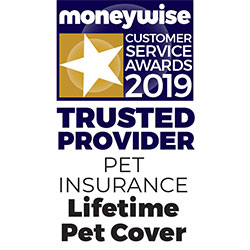 Lifetime Pet Cover Moneywise Trusted Provider 2019